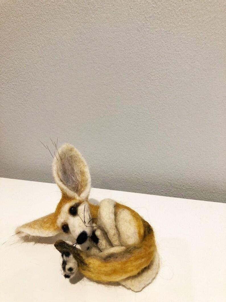 Fennec Fox Desert Needle Felted Fennec Sculpture