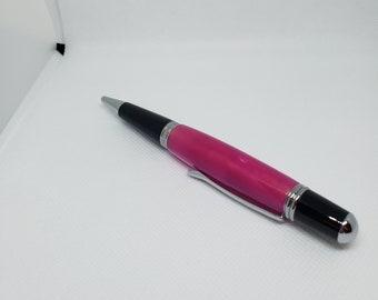"#25 1 pc Pen Blank Short 3//4/"" x 2 7//8/"" to 3 7//8/"" ks Green Swirl Acrylic"