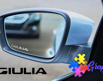 Alfa Giulietta Etched Glass Effect Vinyl Wing Mirror Decal  x3