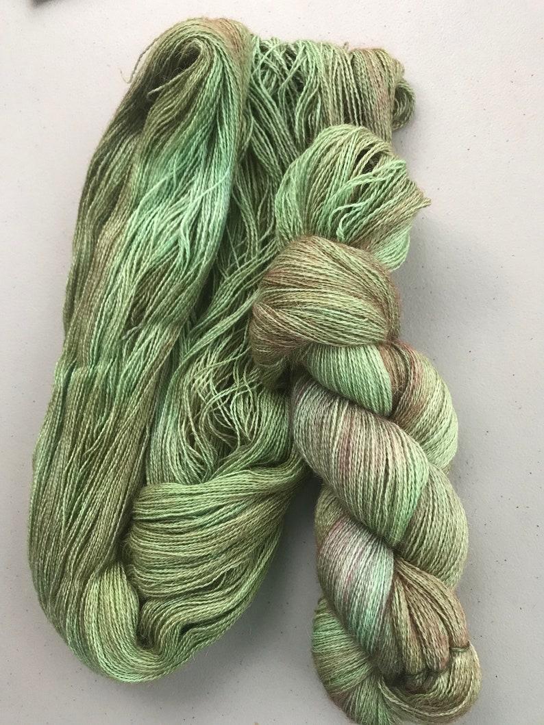 Hand Dyed Green-Meadow-100/% Peruvian Baby Alpaca
