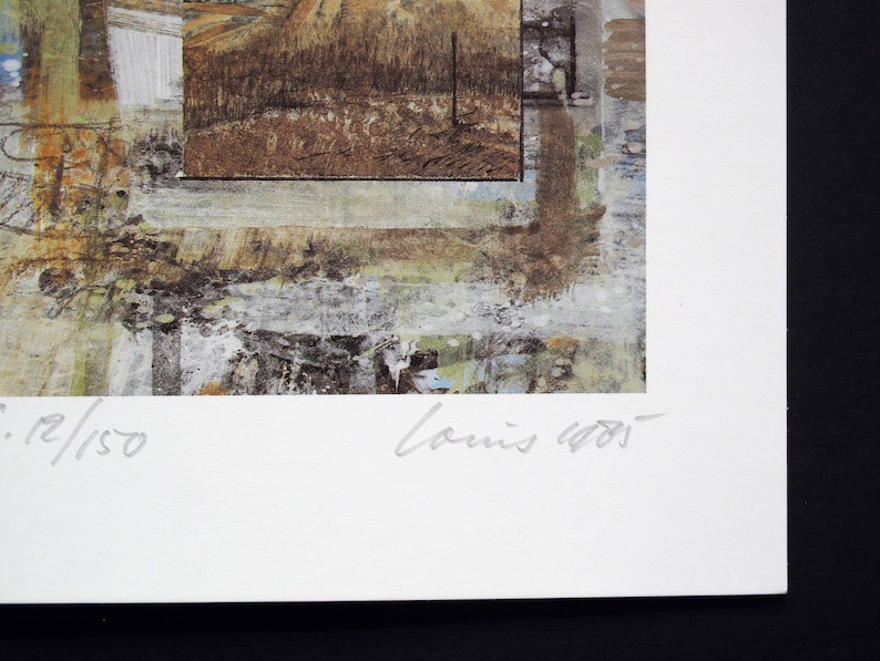 with Artist Signature Numbered and dated 1985 LOUIS BUSMAN Limited Edition Lithograph