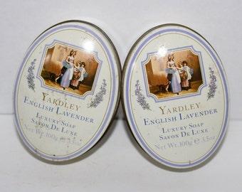 Vintage Yardley Lavender Soap Tins