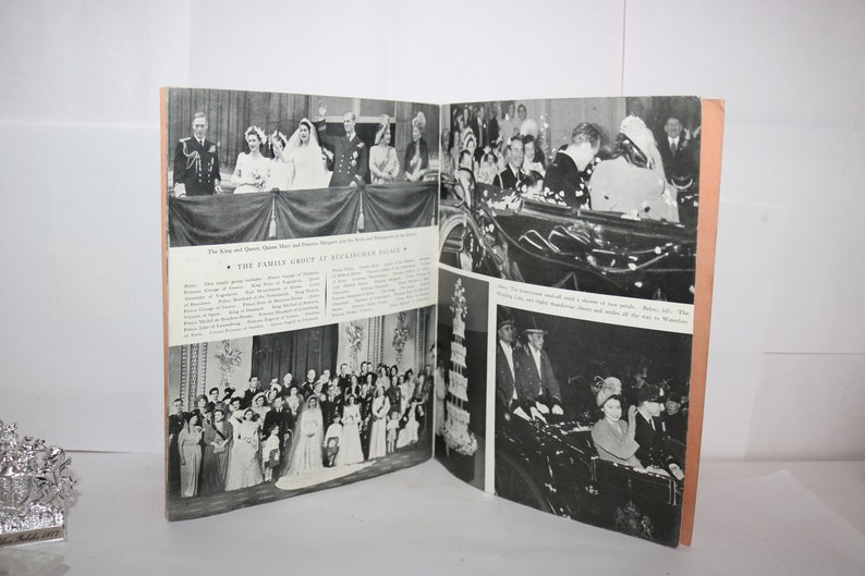 Vintage Royal Queen Elizabeth II Regiment Brigade Book Wedding Ticket and Jubilee Paper Weight Wedding Day Book