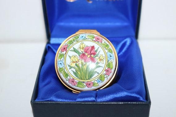 Vintage Floral Kingsley Enamels Trinket pot Box