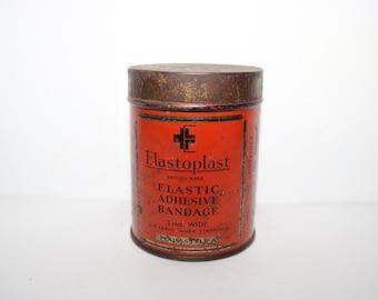 Vintage Elastoplast Elastic Adhesive Bandage Tin