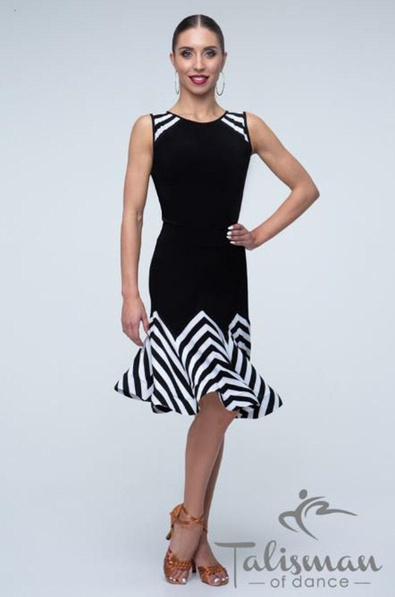 Clothing for tango. Striped dance skirt Skirt for latin