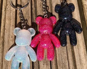 Custom Resin Teddy Bear Keychain