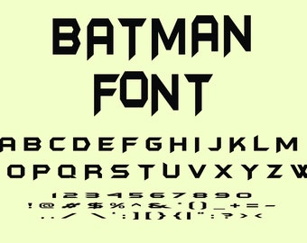 Batman Fonts Etsy