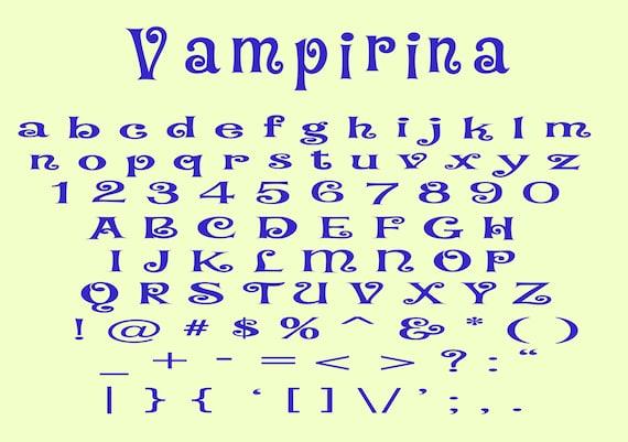 Vampirina Font SVG Digital Download Svg Vampirina Number and Letters Svg for Cricut Silhouette Vampirina SVG Vampirina Alphabet SVG