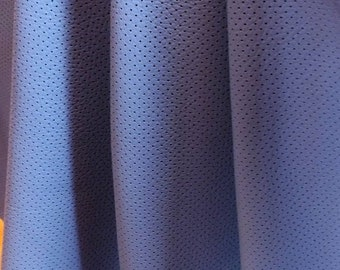 ITALIAN DENIM COLOR perforated leather sheets Genuine leather piece Leather for crafting Perforated leather Leather for earrings