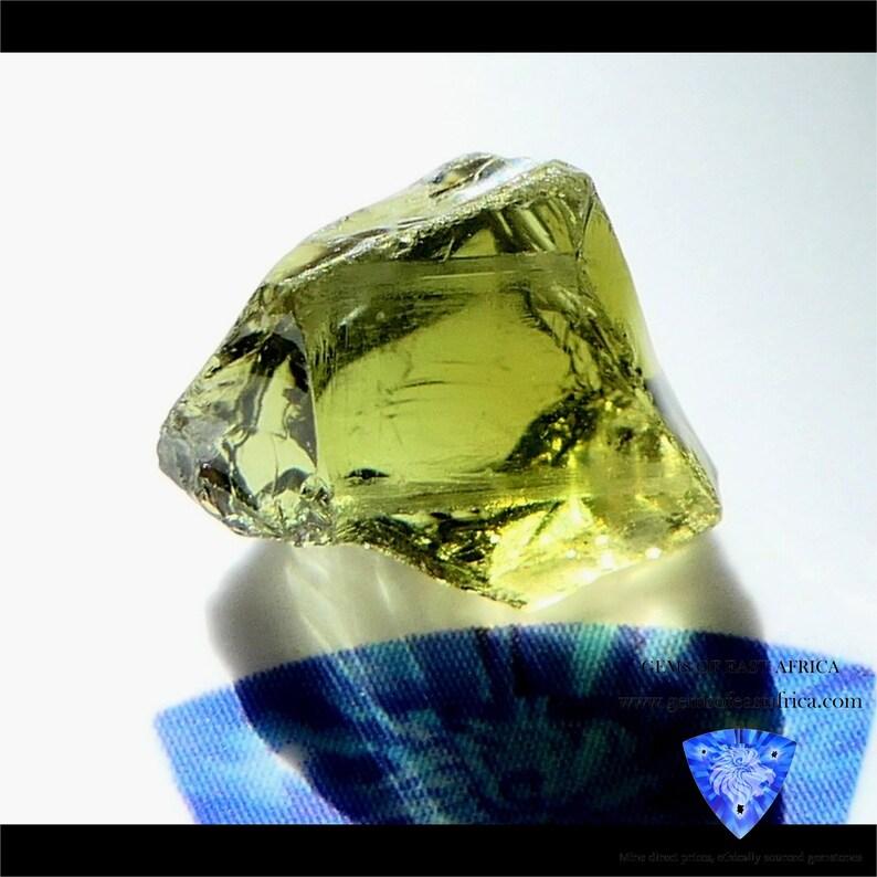 2.89ct Mozambique Tourmaline Raw Gemstones. Untreated Unheated Natural Gemstones VVS-IF Faceting Rough Gemstones