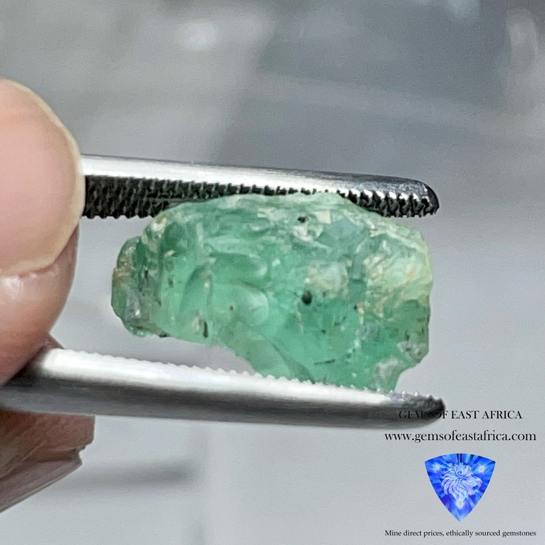 excellent for a collection or set in jewellery as is or cab or facet 5.40ct Emerald Untreated Unheated Tanzania No Oil