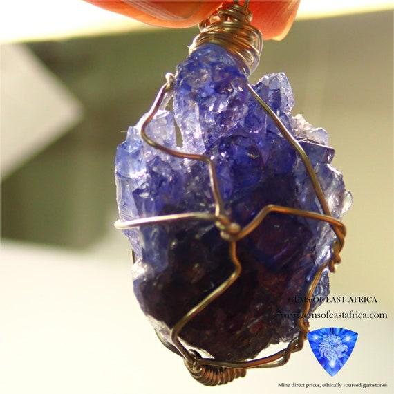Gently Heated Tanzania 40.87ct Tanzanite Crystal