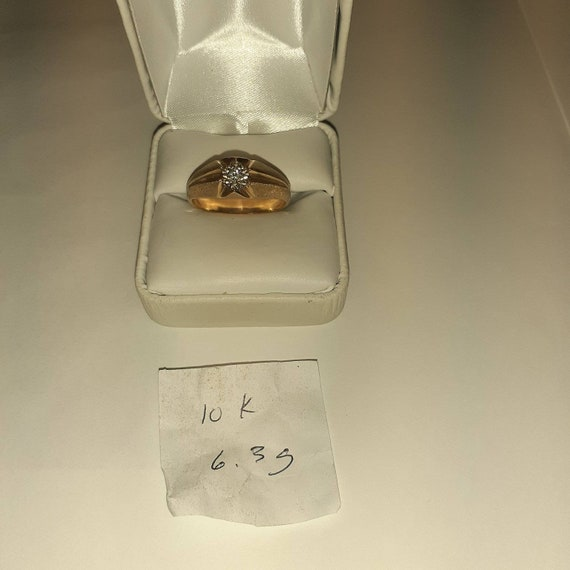 10k Gold Diamond Solitaire Ring - image 1