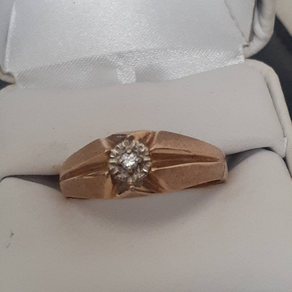 10k Gold Diamond Solitaire Ring - image 2