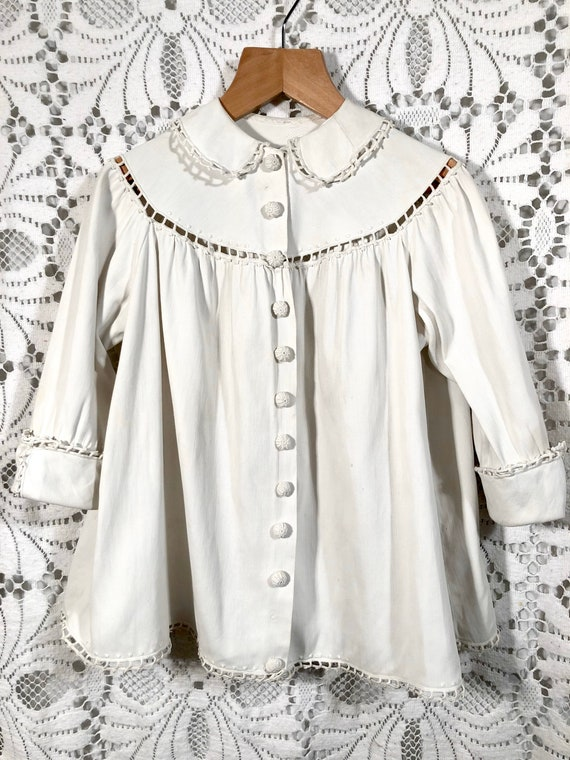 Victorian unisex kids cotton housecoat