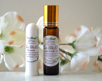 Four Thieves Immune Support Essential Oil Roll-On Blend Inhaler Set Aromatherapy