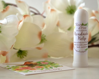 Headache Help Essential Oil Blend Inhaler Natural Remedy
