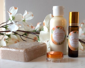 Cinnamon Essential Oil Autumn Gift Set Oatmeal Soap Aroma Oil