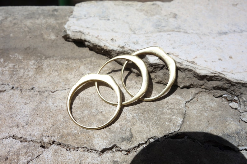 handmade stackable rings 3 Delicate stacking rings 14k yellow gold unique stack rings stacking rings