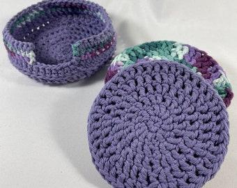Hand-Crochet Cotton Coaster Set
