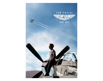"Top Gun Maverick Poster 48x32/"" 40x27/"" 36x24 2020 Tom Cruise Print Silk"