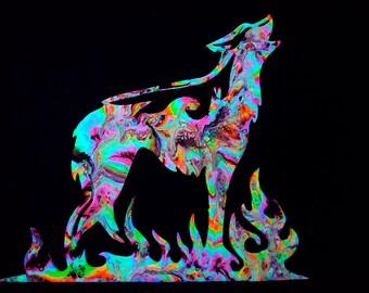 Psychedelic Wolf Cosmic Spirit Animal Bodysuit