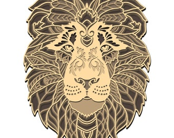 Mandala Lion Svg Etsy