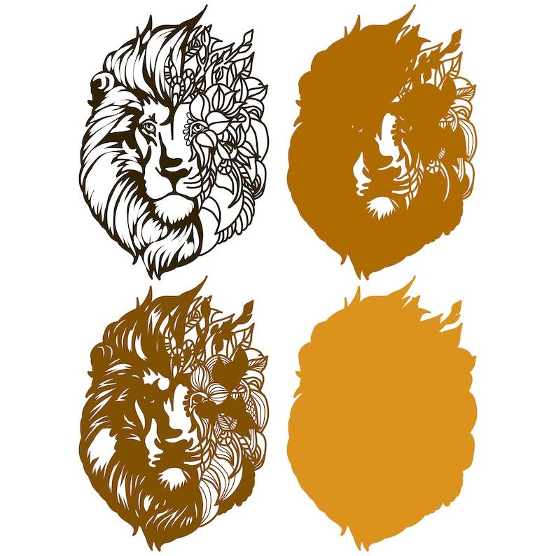 Download Lion Mandala 3D layered SVG Digital file Lion Mandala 3D ...