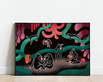 Jungle Bar - AR print (40x60 cm)