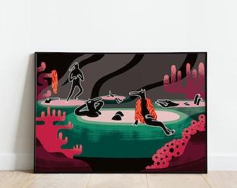 Hot Tubs - AR print (40x60 cm)