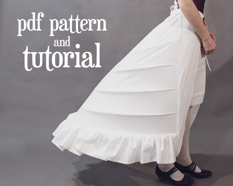 Victorian Lingerie – Underwear, Petticoat, Bloomers, Chemise     Read the full title    1870s crinolette (bustle) PDF pattern $9.00 AT vintagedancer.com