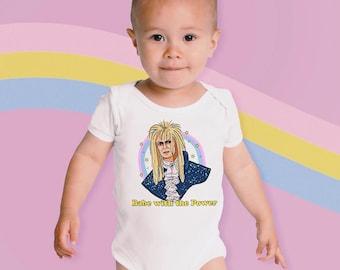 BOWIE STRIPE Ziggy Stardust Onesie David Bowie Inspired Raglan Onesie glam David Bowie Baby Bodysuit Bowie Onesie Newborn Bowie Outfit