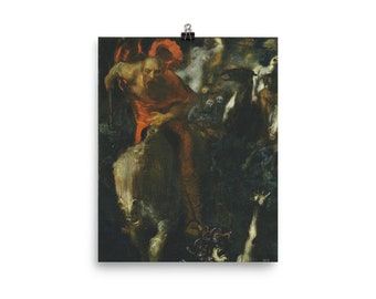 1872 Art Canvas//Poster Print A3//A2//A1 The Wild Hunt of Odin Arbo
