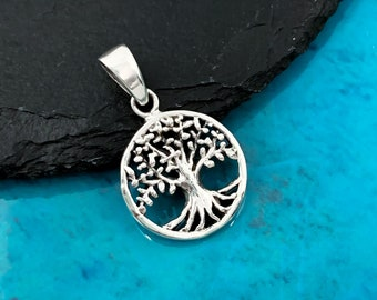 Womens Mens Life Tree Pendant Filled Silver Pendant /& Filled Silver Chain pd0015