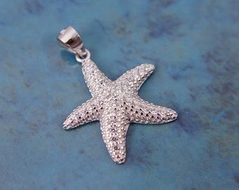 Animal Pendants Silver /& Pink Enamel Starfish Necklace Handmade in Greece Starfish Pendant Necklace