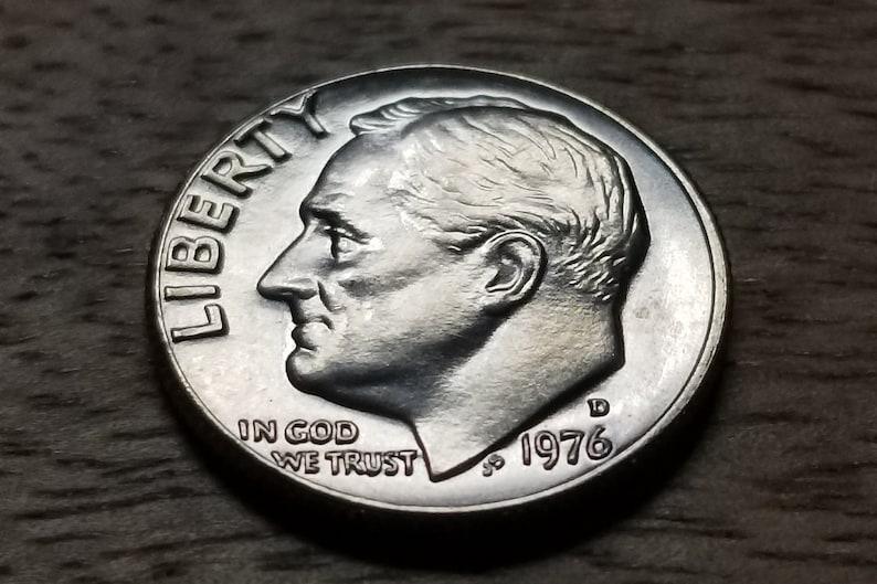 UNCIRCULATED 1976 D US Dime Bicentennial Silver Coin