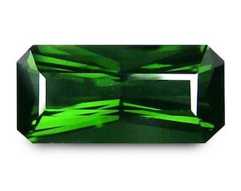 Tourmaline 0.94 Cts Vivid Green scissors cut Emerald From Brazil