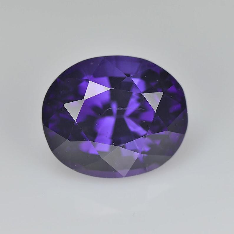 Purple loose Gemstone Round Step cut BE Organic Wear Natural Spinel 1.77 Cts Srilanka