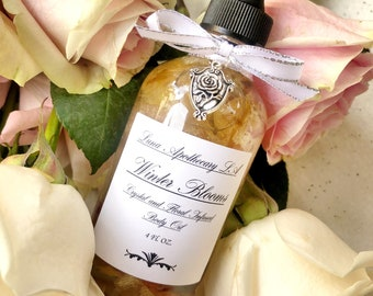 Rosy Future ~Body Oil,Hair Oil,Bath Oil,Ritual Oil, Anointing Oil,Crystal Infused,Massage,Apothecary,Body Care,Self Care, Mothers Day Gift