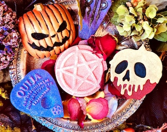Halloween Bath Bombs,Bath Fizzies,Handmade Bath Bombs,Moisturizing Bath Bombs,Fall Skincare,Apothecary,Halloween Bath Bomb,Limited Edition