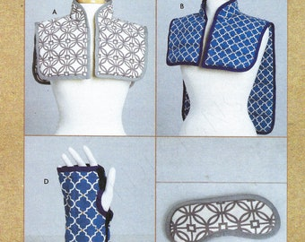 Uncut kwik Sewing Pattern 10853 4318 Hot Cold Shoulder Pack Mask Wrist Wrap Therapeutic Strain Pain Relief, Comfort Spa Patient one size  FF