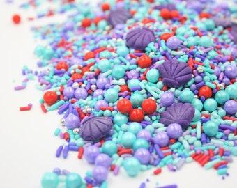 sea horse sprinkles cute little mint green seahorse sprinkles underwater sprinkles Mint Green Seahorse Candy Sprinkles