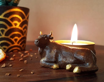 Year of the Ox - Chinese Zodiac Tealight Holder