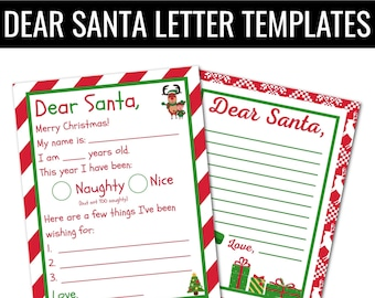 Printable Letter to Santa Claus, Dear Santa Letter Template, Santa Claus Christmas Letter, Letter to Santa Printable, Dear Santa Letter
