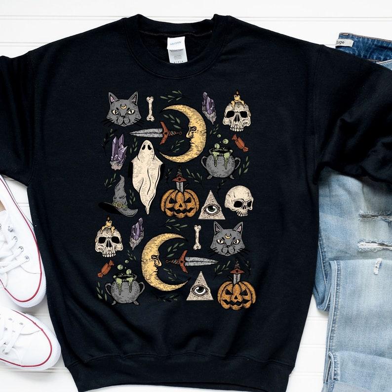 Vintage Halloween Sweatshirt Halloween Vintage Vintage Fall Black