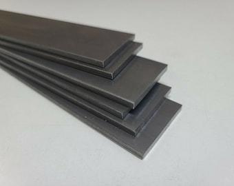 "1095 Cold Rolled Carbon Steel 5/32"" x 1.5"" x 9"" bar, Knife Making Stock, Billet"