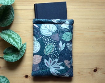 """Book case, book bag """"Blätter 2"""", book protection, book sleeve, book sleeve, tablet bag, tablet sleeve - available in 2 sizes"""