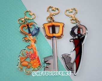 Kingdom Hearts - Destiny Trio Keyblades  [Acrylic Charms] - Sora Riku Kairi