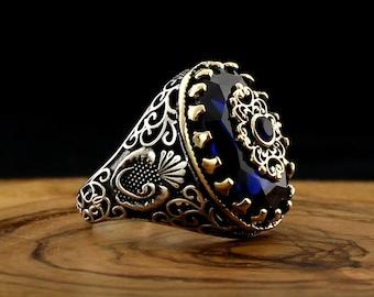 Unique Ottoman Turkish vintage ring signet Islamic ring Onyx stone hand crafted ring Osmanische T\u00fcrkisch m\u00e4nner ring Islam Muslim gift
